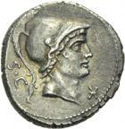 Photo numismatique  ARCHIVES VENTE 2013 -Coll Henri Dolet REPUBLIQUE ROMAINE   243- L. Rustius (vers 76). Denier.