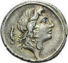 Photo numismatique  ARCHIVES VENTE 2013 -Coll Henri Dolet RÉPUBLIQUE ROMAINE   239- M. Plaetorius M. f. Cestianus (vers 69). Denier.