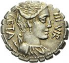 Photo numismatique  ARCHIVES VENTE 2013 -Coll Henri Dolet REPUBLIQUE ROMAINE   232- C. Hosidius C. f. Geta (vers 68). Denier.