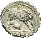 Photo numismatique  ARCHIVES VENTE 2013 -Coll Henri Dolet RÉPUBLIQUE ROMAINE   232- C. Hosidius C. f. Geta (vers 68). Denier.