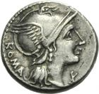 Photo numismatique  ARCHIVES VENTE 2013 -Coll Henri Dolet RÉPUBLIQUE ROMAINE   229- L. Flaminius Chilo (vers 109/108). Denier.
