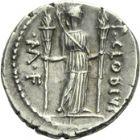Photo numismatique  ARCHIVES VENTE 2013 -Coll Henri Dolet RÉPUBLIQUE ROMAINE   222- P. Clodius M. f. Turrinus (vers 42). Denier.