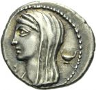 Photo numismatique  ARCHIVES VENTE 2013 -Coll Henri Dolet REPUBLIQUE ROMAINE   220- L. Cassius Longinus (vers 63). Denier.
