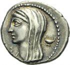 Photo numismatique  ARCHIVES VENTE 2013 -Coll Henri Dolet RÉPUBLIQUE ROMAINE   220- L. Cassius Longinus (vers 63). Denier.