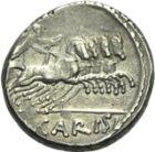 Photo numismatique  ARCHIVES VENTE 2013 -Coll Henri Dolet RÉPUBLIQUE ROMAINE   219- T. Carisius (vers 46). Denier.