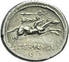 Photo numismatique  ARCHIVES VENTE 2013 -Coll Henri Dolet RÉPUBLIQUE ROMAINE   218- L. Calpurnius Piso Frugi (vers 90). Denier.
