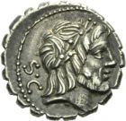 Photo numismatique  ARCHIVES VENTE 2013 -Coll Henri Dolet REPUBLIQUE ROMAINE   214- Q. Antonius Balbus (vers 83/82). Denier serratus.