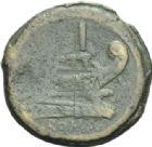 Photo numismatique  ARCHIVES VENTE 2013 -Coll Henri Dolet RÉPUBLIQUE ROMAINE   *208- (187-175). Sextans.