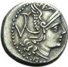 Photo numismatique  ARCHIVES VENTE 2013 -Coll Henri Dolet RÉPUBLIQUE ROMAINE   207- (A partir de 211). Denier et *quinaire.