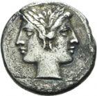 Photo numismatique  ARCHIVES VENTE 2013 -Coll Henri Dolet RÉPUBLIQUE ROMAINE   206- ANONYMES (vers 280-212). Drachme ou demi-quadrigatus.