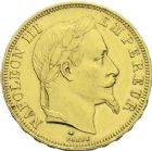Photo numismatique  ARCHIVES VENTE 2013 -Coll J.R. MONNAIES MODERNES NAPOLEON III, empereur (2 décembre 1852-1er septembre 1870)  191- 50 francs or, Paris 1868.