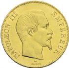 Photo numismatique  ARCHIVES VENTE 2013 -Coll J.R. MONNAIES MODERNES NAPOLEON III, empereur (2 décembre 1852-1er septembre 1870)  187- 100 francs or, Paris 1859.