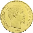Photo numismatique  ARCHIVES VENTE 2013 -Coll J.R. MONNAIES MODERNES NAPOLEON III, empereur (2 décembre 1852-1er septembre 1870)  186- 100 francs or, Paris 1857.