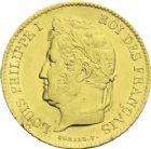 Photo numismatique  ARCHIVES VENTE 2013 -Coll J.R. MONNAIES MODERNES LOUIS-PHILIPPE Ier (9 août 1830-24 février 1848)  184- 40 francs or, Bayonne 1834.