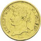 Photo numismatique  ARCHIVES VENTE 2013 -Coll J.R. MONNAIES MODERNES JERÔME NAPOLEON, roi de Westphalie (1807-1813)  180- 20 Franken or, Cassel 1808.