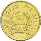 Photo numismatique  ARCHIVES VENTE 2013 -Coll J.R. MONNAIES MODERNES JOACHIM MURAT, roi de Naples et des Deux-Siciles (1808-1815)  178- 20 lire or, Naples 1813.