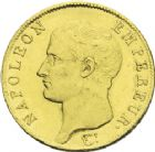 Photo numismatique  ARCHIVES VENTE 2013 -Coll J.R. MONNAIES MODERNES NAPOLEON Ier, empereur (18 mai 1804- 6 avril 1814)  171- 40 francs or, Paris 1806.