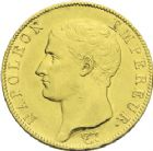 Photo numismatique  ARCHIVES VENTE 2013 -Coll J.R. MONNAIES MODERNES NAPOLEON Ier, empereur (18 mai 1804- 6 avril 1814)  169- 40 francs or, Paris an 13.