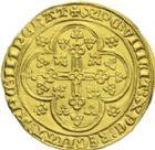 Photo numismatique  ARCHIVES VENTE 2013 -Coll J.R. BARONNIALES Comté de FLANDRE LOUIS de MÂLE (1346-1384) 167- Nouvelle chaise d'or, Gand ou Malines, (1370-1372).