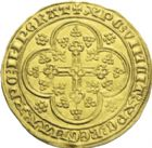 Photo numismatique  ARCHIVES VENTE 2013 -Coll J.R. BARONNIALES Comté de FLANDRE LOUIS de MÂLE (1346-1384) 166- Nouvelle chaise d'or, Gand ou Malines, (1370-1372).