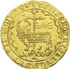 Photo numismatique  ARCHIVES VENTE 2013 -Coll J.R. BARONNIALES Comté de FLANDRE LOUIS de MÂLE (1346-1384) 164- Mouton d'or, frappé à Gand ou Malines, (1356-1370).