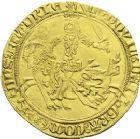Photo numismatique  ARCHIVES VENTE 2013 -Coll J.R. BARONNIALES Comté de FLANDRE LOUIS de MÂLE (1346-1384)  163- Cavalier d'or, frappé à Gand, 1361-1364.