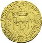 Photo numismatique  ARCHIVES VENTE 2013 -Coll J.R. ROYALES FRANCAISES LOUIS XII (8 avril 1498-31 décembre 1514)  64- Ecu d'or au soleil de Bretagne, frappé à Nantes.
