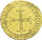 Photo numismatique  ARCHIVES VENTE 2013 -Coll J.R. ROYALES FRANCAISES LOUIS XII (8 avril 1498-31 décembre 1514)  63-  Ecu d'or au soleil (25 avril 1498), frappé à Lyon en 1508-1513.