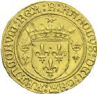 Photo numismatique  ARCHIVES VENTE 2013 -Coll J.R. ROYALES FRANCAISES CHARLES VIII (20 août 1483-7 avril 1498)  62- Ecu d'or au soleil de Bretagne, frappé à Rennes (à partir du 6 avril 1491).