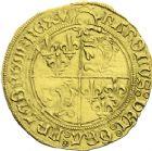Photo numismatique  ARCHIVES VENTE 2013 -Coll J.R. ROYALES FRANCAISES CHARLES VIII (20 août 1483-7 avril 1498)  61- Ecu d'or au soleil du Dauphiné du 1er type, frappé à Crémieu en 1493-1496.