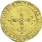 Photo numismatique  ARCHIVES VENTE 2013 -Coll J.R. ROYALES FRANCAISES CHARLES VIII (20 août 1483-7 avril 1498)  59- Ecu d'or au soleil de la 2ème émission (8 juillet 1494), frappé à Poitiers.