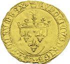 Photo numismatique  ARCHIVES VENTE 2013 -Coll J.R. ROYALES FRANCAISES LOUIS XI (22 juillet 1461-30 août 1483)  57- Ecu d'or au soleil (2 novembre 1475), frappé à Perpignan en 1478-1483.