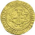 Photo numismatique  ARCHIVES VENTE 2013 -Coll J.R. ROYALES FRANCAISES LOUIS XI (22 juillet 1461-30 août 1483)  56- Ecu d'or à la couronne de la 1ère émission (31 décembre 1461), frappé à Bourges.