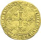 Photo numismatique  ARCHIVES VENTE 2013 -Coll J.R. ROYALES FRANCAISES CHARLES VII (30 octobre 1422-22 juillet 1461)  53- Royal d'or de la 1ère émission (9 octobre 1429), frappé à Orléans.