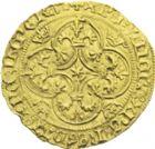 Photo numismatique  ARCHIVES VENTE 2013 -Coll J.R. ROYALES FRANCAISES CHARLES VII (30 octobre 1422-22 juillet 1461)   52- Ecu d'or à la couronne dit écu vieux de la 3ème émission (août 1424), frappé à Toulouse.