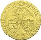Photo numismatique  ARCHIVES VENTE 2013 -Coll J.R. ROYALES FRANCAISES HENRI VI, roi de France et d'Angleterre (31 octobre 1422–19 octobre 1453)  51- Angelot d'or (24 mai 1427), frappé à Saint-Lô.