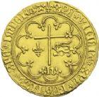 Photo numismatique  ARCHIVES VENTE 2013 -Coll J.R. ROYALES FRANCAISES HENRI VI, roi de France et d'Angleterre (31 octobre 1422–19 octobre 1453)  50- Salut d'or de la 2ème émission (6 septembre 1423), frappé à Saint-Lô.