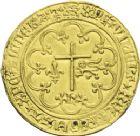 Photo numismatique  ARCHIVES VENTE 2013 -Coll J.R. ROYALES FRANCAISES HENRI VI, roi de France et d'Angleterre (31 octobre 1422–19 octobre 1453)  49- Salut d'or de la 2ème émission (6 septembre 1423), frappé à Rouen.