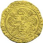 Photo numismatique  ARCHIVES VENTE 2013 -Coll J.R. ROYALES FRANCAISES CHARLES VI (16 septembre 1380-21 octobre 1422) Monnayage du dauphin régent 48- (26 octobre 1418-20 octobre 1422). Double d'or (juillet ou août 1420), frappé à La Rochelle.