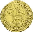 Photo numismatique  ARCHIVES VENTE 2013 -Coll J.R. ROYALES FRANCAISES CHARLES VI (16 septembre 1380-21 octobre 1422)  46- Agnel d'or de la 1ère émission (10 mai 1417), frappé à Paris. 46- Agnel d'or de la 1ère émission (10 mai 1417), frappé à Paris.