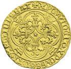 Photo numismatique  ARCHIVES VENTE 2013 -Coll J.R. ROYALES FRANCAISES CHARLES VI (16 septembre 1380-21 octobre 1422)  45- Ecu d'or de la 2ème émission (28 février 1388).