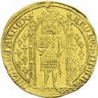 Photo numismatique  ARCHIVES VENTE 2013 -Coll J.R. ROYALES FRANCAISES CHARLES V (8 avril 1364-16 septembre 1380)  44- Franc d'or à pied (20 avril 1365).