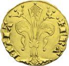 Photo numismatique  ARCHIVES VENTE 2013 -Coll J.R. ROYALES FRANCAISES JEAN II LE BON (22 août 1350-18 avril 1364)  41- Florin d'or du Languedoc (21 février 1360), frappé à Montpellier (?).