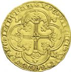 Photo numismatique  ARCHIVES VENTE 2013 -Coll J.R. ROYALES FRANCAISES JEAN II LE BON (22 août 1350-18 avril 1364)  40- Franc d'or à cheval (5 décembre 1360).