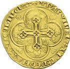 Photo numismatique  ARCHIVES VENTE 2013 -Coll J.R. ROYALES FRANCAISES EDOUARD III, roi d'Angleterre (1337-1360)  36- Ecu d'or à la chaise.