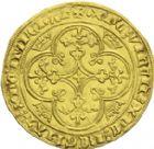 Photo numismatique  ARCHIVES VENTE 2013 -Coll J.R. ROYALES FRANCAISES PHILIPPE VI DE VALOIS(1er avril 1328-22 août 1350)  35- Chaise d'or (17 juillet 1346).