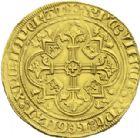 Photo numismatique  ARCHIVES VENTE 2013 -Coll J.R. ROYALES FRANCAISES PHILIPPE VI DE VALOIS(1er avril 1328-22 août 1350)  33- Double d'or de la 1ère émission (6 avril 1340).