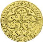 Photo numismatique  ARCHIVES VENTE 2013 -Coll J.R. ROYALES FRANCAISES PHILIPPE VI DE VALOIS(1er avril 1328-22 août 1350)  29- Ecu d'or à la chaise de la 1ère émission (1er janvier 1337).