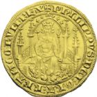 Photo numismatique  ARCHIVES VENTE 2013 -Coll J.R. ROYALES FRANCAISES PHILIPPE VI DE VALOIS(1er avril 1328-22 août 1350)  28- Parisis d'or (6 septembre 1329).