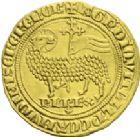 Photo numismatique  ARCHIVES VENTE 2013 -Coll J.R. ROYALES FRANCAISES CHARLES IV LE BEL (3 janvier 1322–1er février 1328)  25- Agnel d'or. (5 janvier 1322).